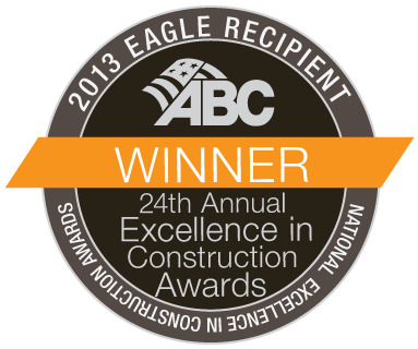 2013 Associated Builders and Contractors (ABC) Excellence in Construction Eagle Award
