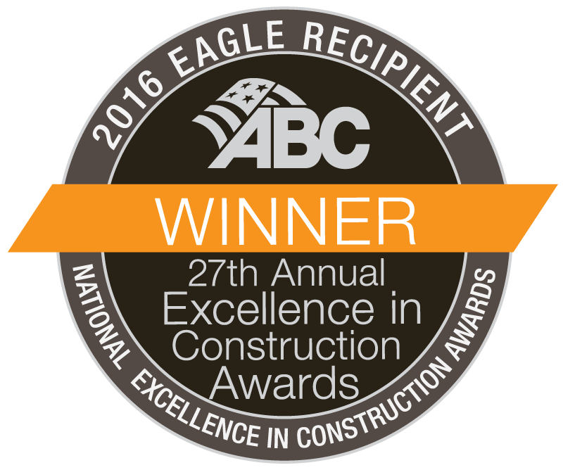 2016 Associated Builders and Contractors (ABC) Excellence in Construction Eagle Award