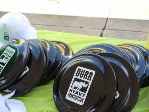Durr branded frisbees