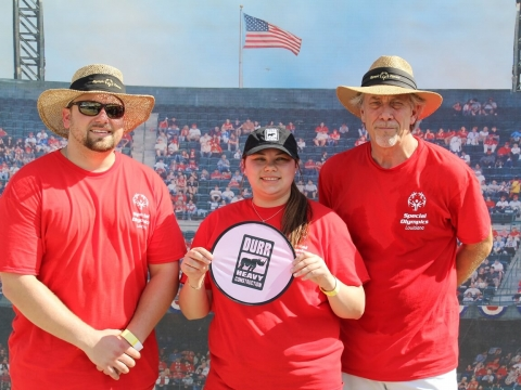 Durr employees posing at a Special Olympics event