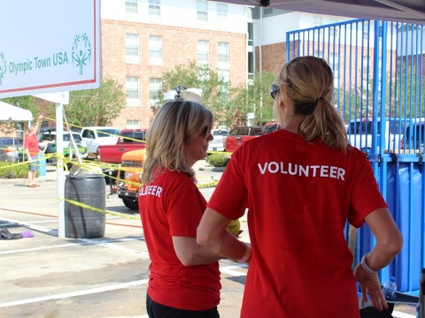 A photo of volunteers at Olympic Town USA