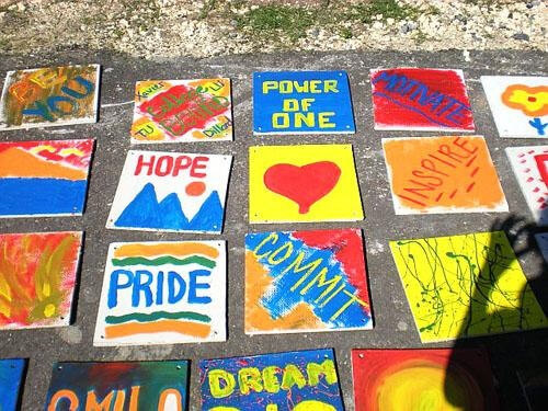 Community tiles for the playground