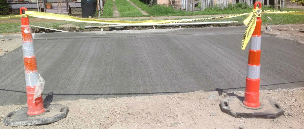 Poured Road Panel