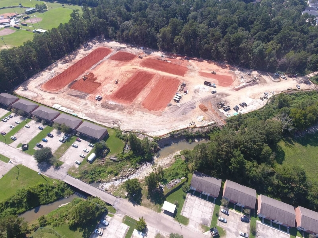 Overview of jobsite at SELU