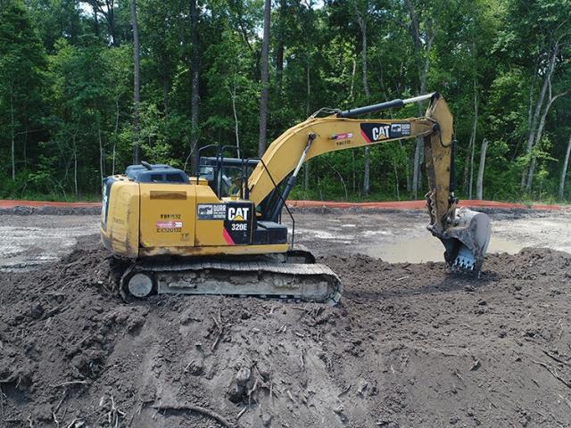 Excavator at a jobsite