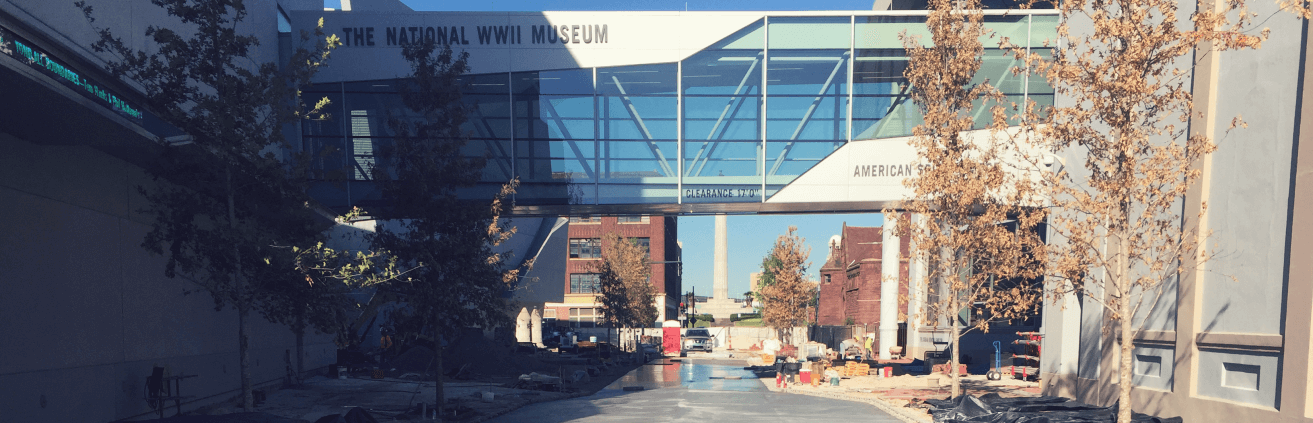 Founders Plaza at the National WWII Museum
