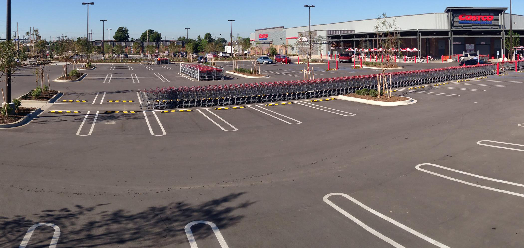The parking lot at Costco Baton Rouge