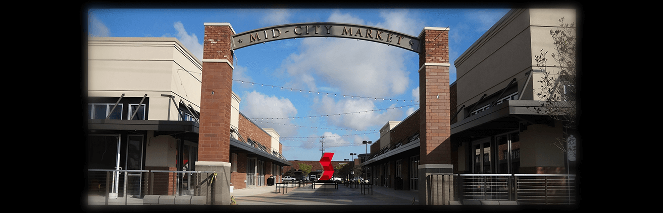 The entrance of Mid-City Market