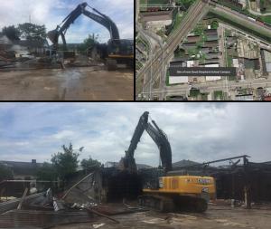 Construction photos of the Good Shepherd School