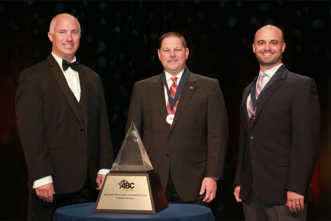 Jason Manson and Jerry Conrad receiving the ABC Pyramid Award