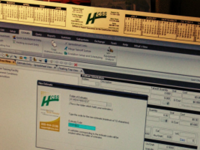 a photo of the HCSS online system